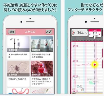 基礎体温アプリ