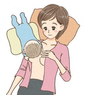 肩ごし授乳