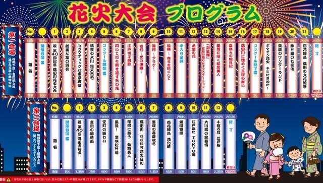 隅田川花火大会打ち上げプログラム