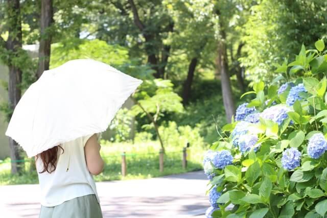 日傘で紫外線アレルギー予防