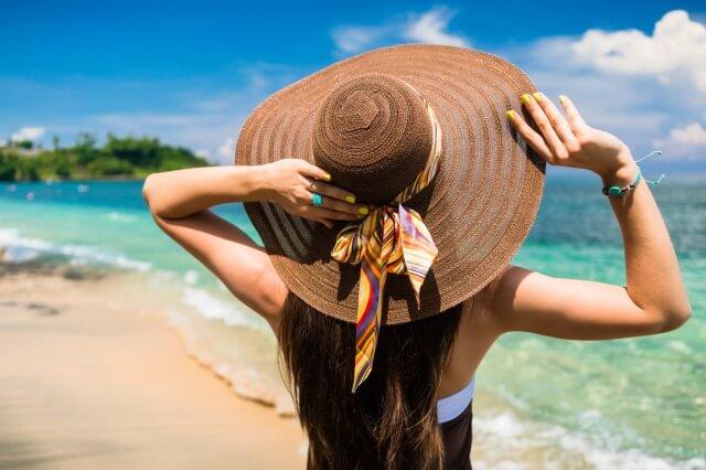 紫外線アレルギー帽子で防止