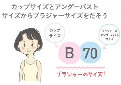 ブラジャーサイズを計算
