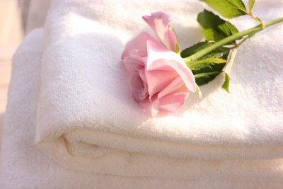 バラとタオル