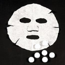 コイン型フェイスマスク