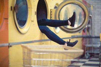 洗濯 スニーカー コインランドリー