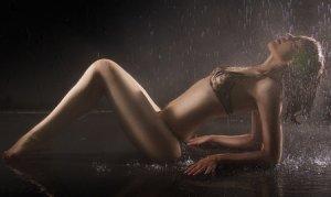 女性 雨 ビキニ 保湿成分